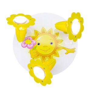 Elobra Stropní světlo Slunce, 3 zdroje, žlutobílá