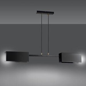 EMIBIG LIGHTING Závěsné světlo Tolos 2 Black se 2 stínidly z kovu