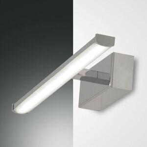Fabas Luce LED nástěnné světlo Nala, chrom, šířka 30 cm