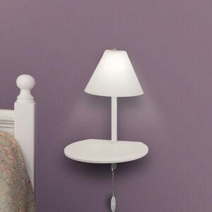 Fabas Luce LED nástěnné světlo Goodnight, USB port, bílá-bílá