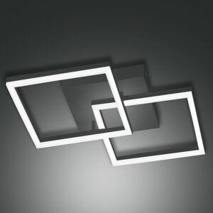 Fabas Luce LED stropní světlo Bard 45x45 cm 2ž., antracit