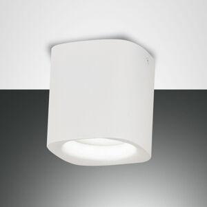 Fabas Luce Stropní světlo Smooth, jeden zdroj, bílá, IP44