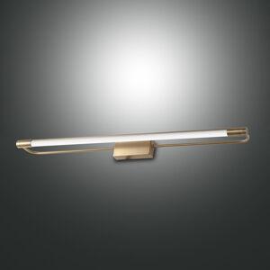 Fabas Luce LED nástěnné světlo Rapallo, mosaz, IP44, 60 cm