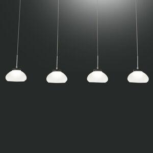 Fabas Luce Závěsné světlo Arabella čtyři zdroje v řadě, bílá