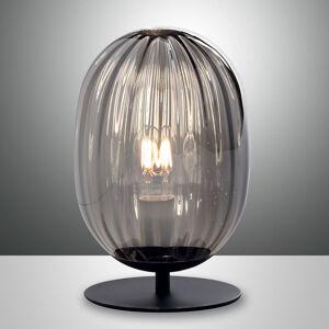 Fabas Luce Stolní lampa Infinity se zakřiveným stínidlem