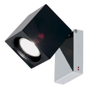 Fabbian Fabbian Cubetto nástěnné světlo GU10 chrom/černá