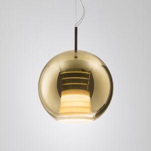 Fabbian Fabbian Beluga Royal závěsné světlo LED zlaté 30cm