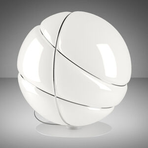 Fabbian Fabbian Armilla skleněná stolní lampa bílá, chrom