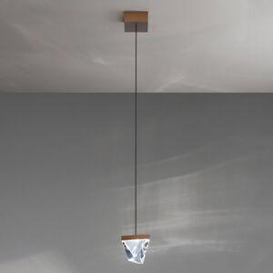 Fabbian Fabbian Tripla LED závěsné světlo křišťál bronz