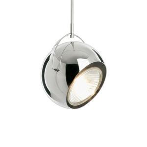 Fabbian Fabbian Beluga Steel závěsné světlo, chrom, Ø 14cm