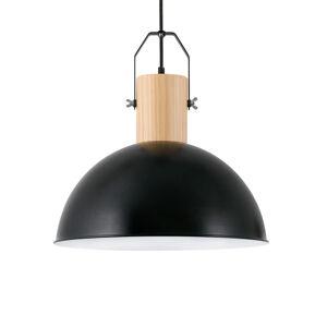 FARO BARCELONA Závěsné světlo Margot z kovu, černá