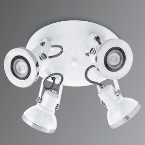 FARO BARCELONA LED stropní reflektor Ring bílý, čtyři zdroje