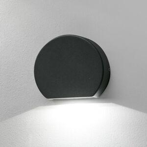 FARO BARCELONA Kulaté LED venkovní nástěnné světlo Pill tmavošedé