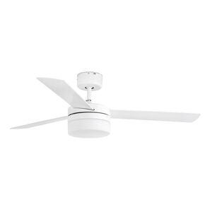 FARO BARCELONA Stropní ventilátor Panay s osvětlením v bílé