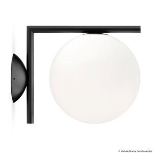 FLOS FLOS IC C/W1 nástěnné světlo, černé Ø 20 cm