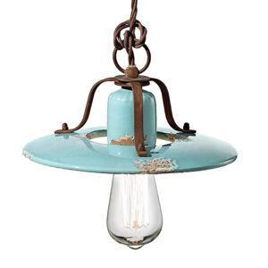 Ferro Luce Vintage závěsné světlo Giorgia v tyrkysové