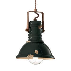 Ferro Luce Závěsné světlo C1691 industriální design černé