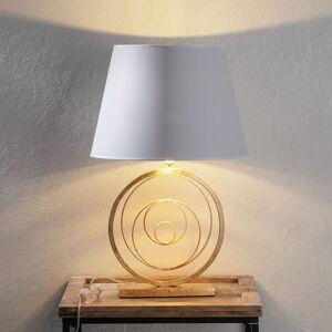 Ferro Luce Ušlechtilá stolní lampa Ring se zlatou nohou