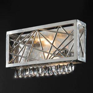 Ferro Luce Stříbrné křišťálové nástěnné světlo Alice
