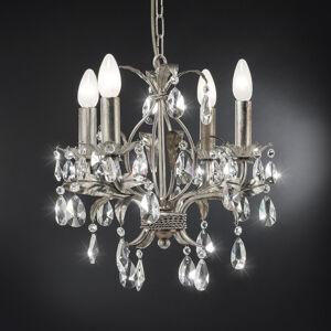 Ferro Luce Lustr 90/4 K, stříbrný, čtyři žárovky