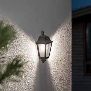 Fumagalli Černé venkovní nástěnné LED svítidlo lesse, odolné