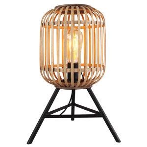 Freelight Stolní lampa Malacca s dřevěným stínidlem
