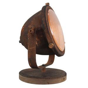 Freelight Stolní lampa Woody, rezavě hnědá