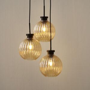 Freelight Závěsné světlo Zucca, tři zdroje, jantarová