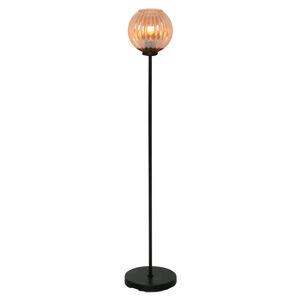 Freelight Stojací lampa Zucca, skleněné stínidlo, jantarová