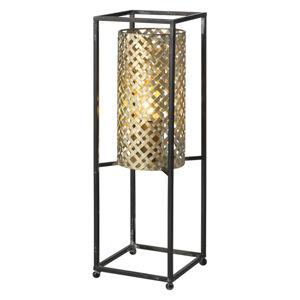 Freelight Stolní lampa Petrolio, černá / zlatá, výška 47 cm
