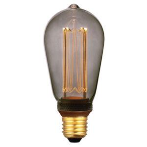 Freelight LED rustikální žárovka E27 5W, 3-step-dim kouřová