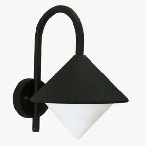 Albert Leuchten Venkovní nástěnné světlo Julieta, špičaté, černá