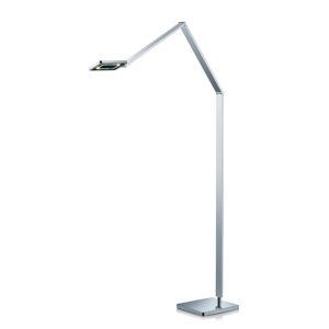 Knapstein Štíhlá LED stojací lampa Linus v chromu