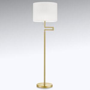 Knapstein Zarovnatelná stojací lampa LED Lilian, mosaz matná