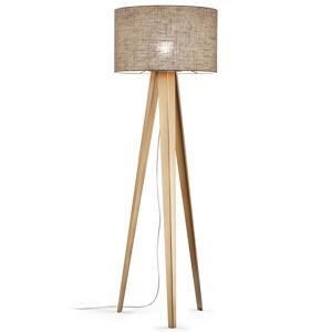 Knapstein Stmívatelná třínohá stojací lampa Athene, plátno