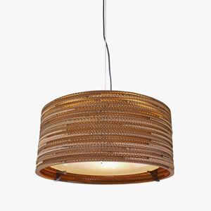 Graypants Závěsné světlo Drum z recyklovaného kartonu, 45 cm