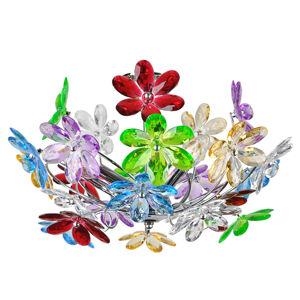 Globo Stropní svítidlo Flower s pestrými květinami