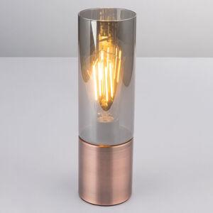 Globo Stolní lampa Annika, měďěná kouřově šedá