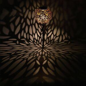 Globo LED solární světlo 33626 hrot, stříbrošedá