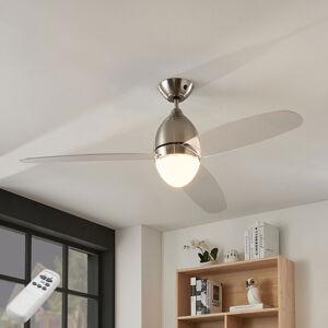 Lindby Stropní ventilátor Piara, osvětlení, čirý