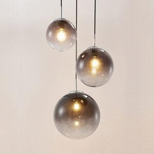 Lindby Lindby Robyn skleněné závěsné světlo, třížár.