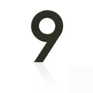 Heibi Nerezová domovní čísla číslice 9, hnědá mocca