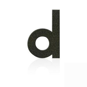 Heibi Nerezová domovní čísla písmeno d, hnědá mocca