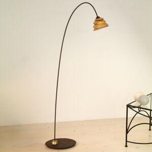 J. Holländer Stojací lampa Snail, 1 zdroj, hnědo-zlatá