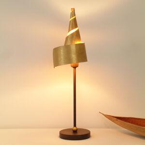 J. Holländer Zlatá stolní lampa ZAUBERHUT s kovovým stínidlem