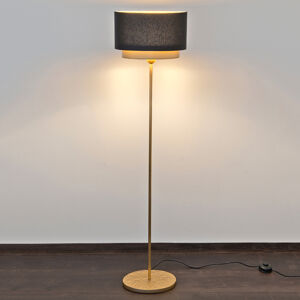 J. Holländer Stojací lampa Mattia stínidlo oválné dvojité černá