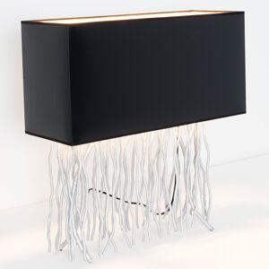 J. Holländer Stolní lampa Capri, hranatá, černá/stříbrná