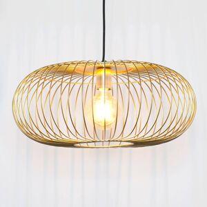 J. Holländer Závěsné světlo Protetto, zlatá, Ø 40 cm