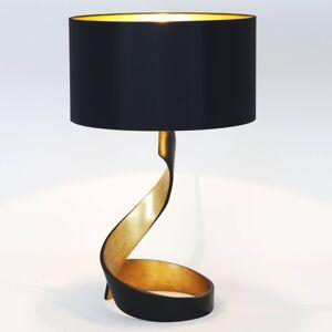 J. Holländer Stolní lampa Vortice, černo-zlatá