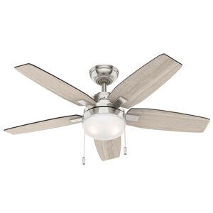 Hunter Hunter Arcot ventilátor, světlo, světle šedá/šedá